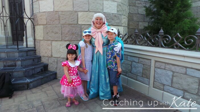 meeting the Fairy Godmother at Walt Disney World