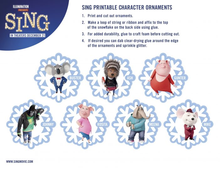 sing printable ornaments