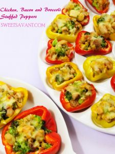 Chicken Bacon and Broccoli Stuffed Peppers
