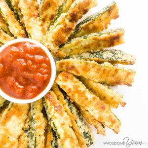 Crispy Baked Zucchini Fries Recipe – Low Carb With Parmesan