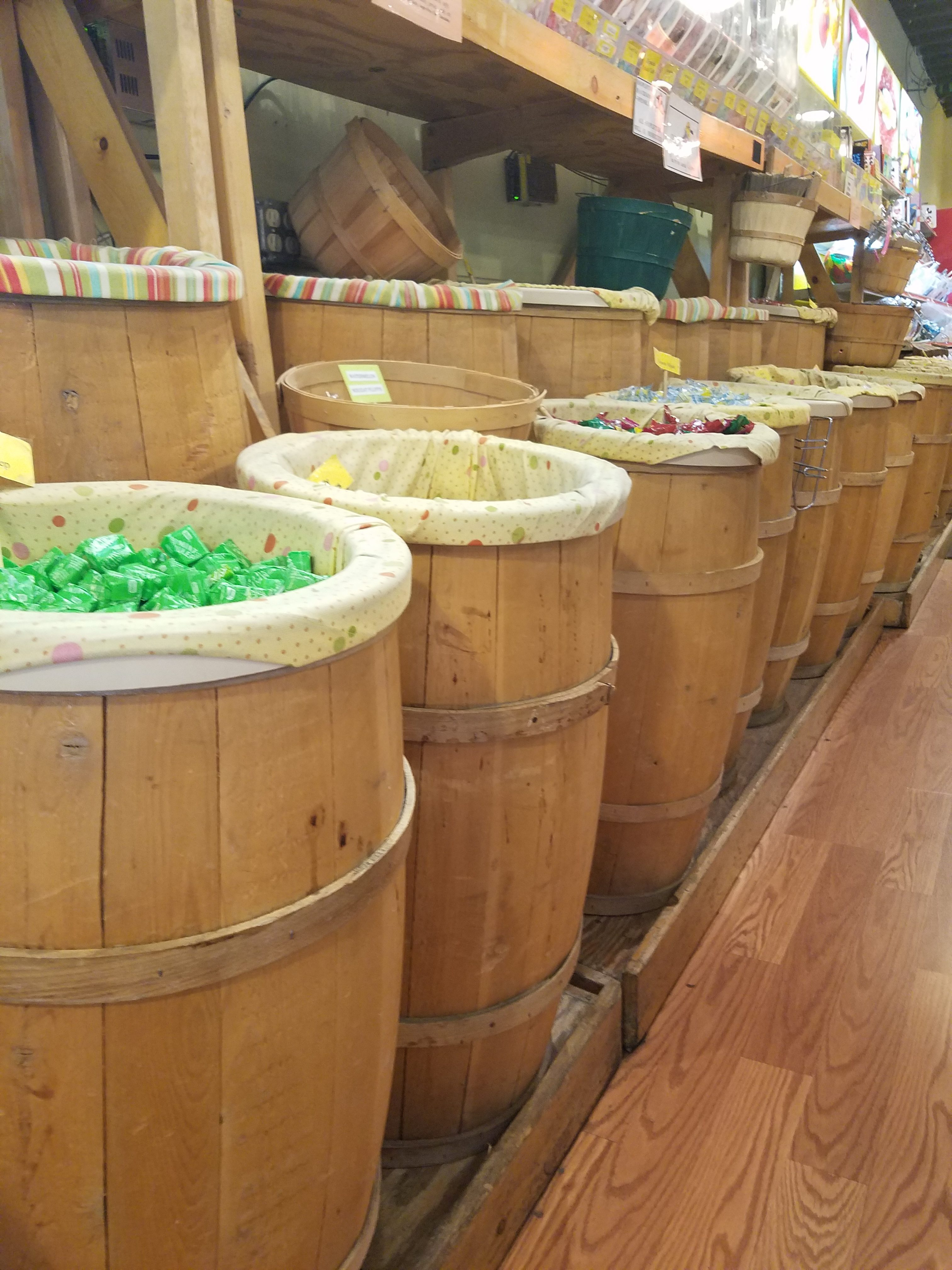old fashioned candy barrels