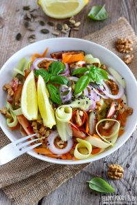 Shaved Zucchini Salad with Walnuts