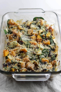 Spinach Cranberry Squash Bake