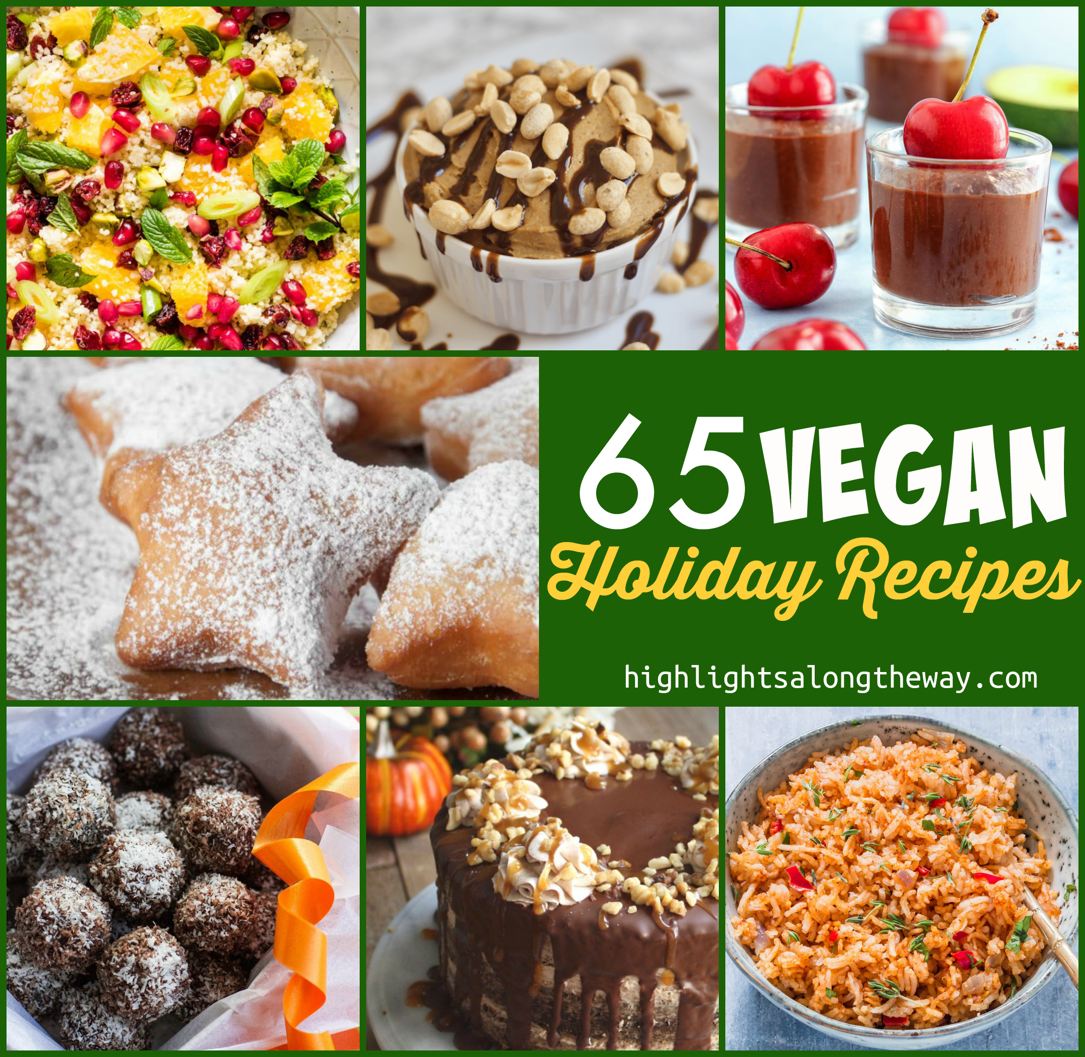Vegan Recipes for holiday gatherings! Plant Based holidays are no stress!